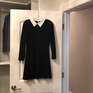 Black fitted and flare dress